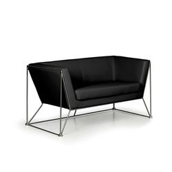 Sitzgarnitur net, 2 sitzplätze, schwarz