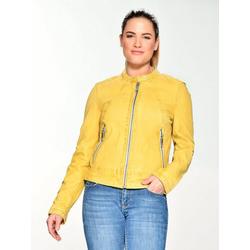 Maze Lederjacke mit farbigem Innenfutter 420-20-04 gelb XL