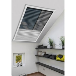 Schellenberg Insektenschutz & Verdunklungsplissee für Dachfenster, 114 x 160 cm, weiß