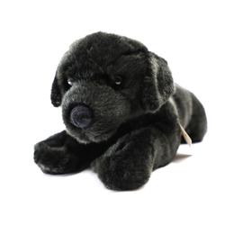 Teddys Rothenburg Kuscheltier Hund Labrador 40 cm liegend schwarz Uni-Toys (Plüschtiere Hunde Labradore Stofftiere Stoffhund Plüschhund)