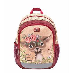 Kinderrucksack Kiddy Plus Animal Forest Bambi weinrot
