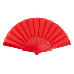 Handfächer Damen Fächer Wandfächer Fasching Karneval Party - rot
