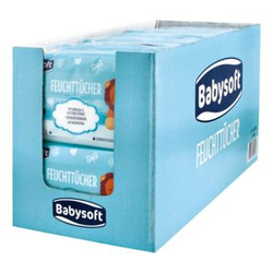 Babysoft Baby Feuchttücher Classic 160 Stück, 6er Pack