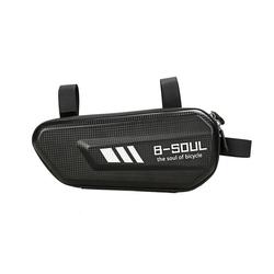 cofi1453 Fahrradtasche B-Soul Fahrradtasche Fahrradrahmen 1,5L Volumen Fahrrad Bike große Tasche in schwarz schwarz