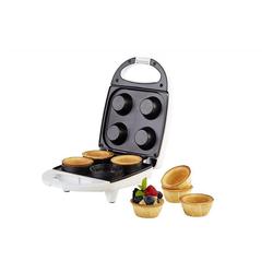 KORONA Cupcake-Maker Waffelcup Maker 41011, Waffelcup-Maker, Waffelcups mit 6 cm Durchmesser, Waffeleisen für 4 Cup Waffeln, Waffel Toaster, weiß