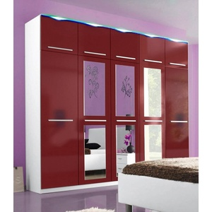 kleiderschrank rot preisvergleich. Black Bedroom Furniture Sets. Home Design Ideas