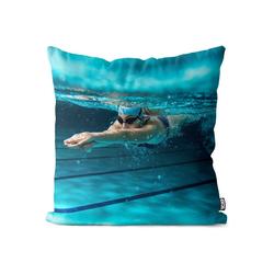 Kissenbezug, VOID (1 Stück), Schwimmerin Athletin Kissenbezug Sport Schwimmen Schwimmbad Pool Schwimmen 50 cm x 50 cm