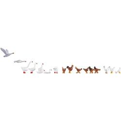 NOCH 15772 H0 Figuren Hühner und Gänse