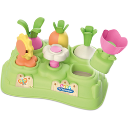 Clementoni Steckspielzeug Baby, Mein erster Garten bunt Kinder Steck- Stapelspielzeug Baby Kleinkind