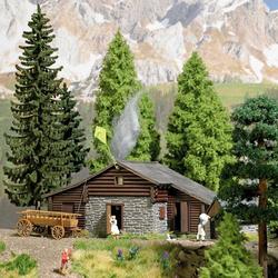 Busch 1444 H0 Almhütte mit kleinen Stall