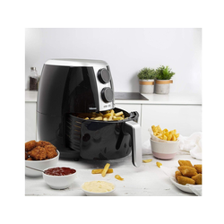 Tristar Heissluftfritteuse, 1500 W, Kleine Heißluftfritteuse Umluft Fritöse Crispy Fryer, Pommes fettarm frittieren ohne Öl, 3,5Ltr.