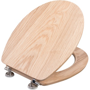"Cornat WC-Sitz ""Ligna"" - Hochwertiges Echtholz - Eiche - Komfortables Sitzgefühl - Edle Holz-Optik passt in jedes Badezimmer / Toilettensitz / Klodeckel / KSLIGE"