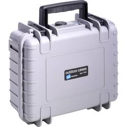 B & W Outdoor Koffer outdoor.cases Typ 1000 4.1l (B x H x T) 270 x 215 x 105mm Grau 1000/G/SI