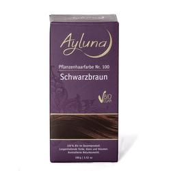 Ayluna Naturkosmetik Haarfarbe - Nr.100 Schwarzbraun 100g