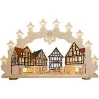 """weigla LED Schwibbogen/Lichterbogen""""Altstadt"""" 15 flammig Erzgebirge garantiert"""