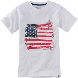 T-Shirt Flagge, weiß, Gr. 152/158 - 152/158 - weiß