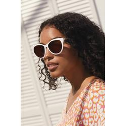 Next Sonnenbrille Polarisierte Cat-Eye-Sonnenbrille weiß