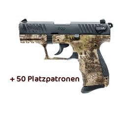 Walther P22Q Schreckschusspistole 9mm P.A.K. Kryptek Kryptek inkl. Platzpatronen