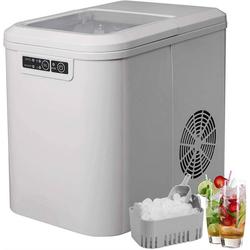 Woltu Eiswürfelmaschine, Eiswürfelmaschine mit 2 Eiswürfelgrößen 2,2 Liter 120W ABS grau