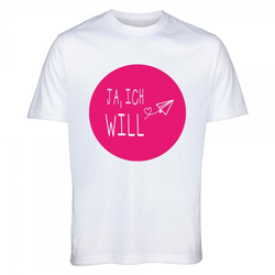 """T-Shirt Junggesellinnenabschied """"JA, ICH WILL"""""""