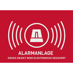 ABUS AU1322 Warnaufkleber Alarmanlage Sprachen Deutsch (B x H) 148mm x 105mm