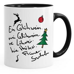 MoonWorks Tasse Kaffee-Tasse Ein Glühwein swei Glühwein-Tasse Weihnachten MoonWorks®
