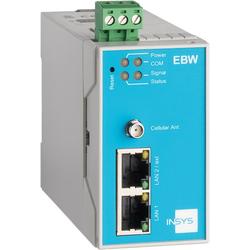 Insys icom EBW-H100, HSPA-Mobilfunkrouter, VPN /2G 2xEthernet 10/100BT, Router, Blau, Grau