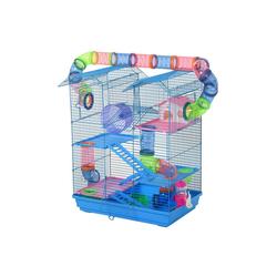 PawHut Kleintierkäfig Hamsterkäfig mit Zubehör
