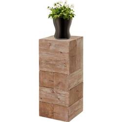 Blumentisch MCW-A15, Blumensäule Blumenständer, Tanne Holz rustikal massiv ~ 75cm