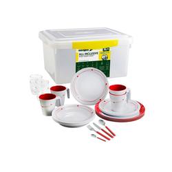 BRUNNER Geschirr-Set Melamin Campinggeschirr COSMIC (12, 16 oder 36-Teilig), Rutschfest, Leicht (36-tlg)