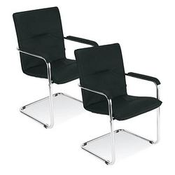 2 NOWY STYL Rumba Besucherstühle schwarz Leder