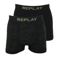 Replay Boxershorts Seamless Cuff Logo im 2er Pack M