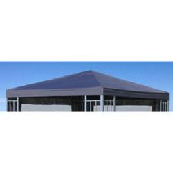 Grasekamp Ersatzdach Aluoptik Pavillon 3x3m  Anthrazit Ersatzbezug Ersatzplane  Rankpavillon
