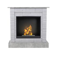 Aflamo Bio-Kamin | Vigo Stone mit Einsatz Bio 60 | Beton