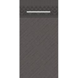 Mank UNI Pocket-Napkins Besteckservierttentasche, 40 x 40 cm, 1/8 Falz, 4-lagig, Farbe: braun, 1 Karton = 4 x 75 Stück = 300 Serviettentaschen