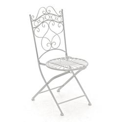 CLP Gartenstuhl Indra handgefertigter Gartenstuhl aus Eisen weiß