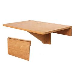SoBuy Klapptisch FWT031, Wandklapptisch Tisch Küchentisch Kindermöbel aus Bambus 60x40cm