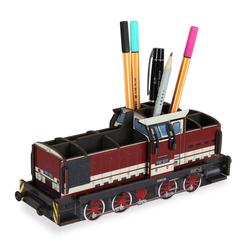 WERKHAUS® Schreibtischaufsatz Werkhaus - Stiftebox Diesellok V60 Rot WE2098 Lok Zug
