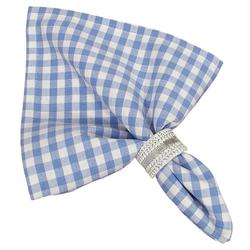 Stoffserviette, Textil Stoff Serviette hellblau kariert 45x45 cm, matches21 HOME & HOBBY blau