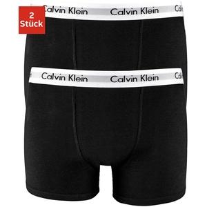 Calvin Klein Boxer, (Packung, 2 St.), mit CK Logo auf dem Bund schwarz Kinder Boxershorts Jungenwäsche Kinderwäsche Boxer