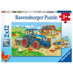 Ravensburger Baustelle und Bauernhof Puzzle 2x 12 Teile