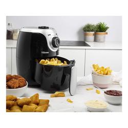 Tristar Heissluftfritteuse, 1000 W, Mini Heißluftfritteuse Umluft Crispy Fryer, Pommes fettarm frittieren ohne Öl, 2 Ltr. 1000 Watt