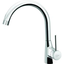 Ideal Standard Einhebel-Küchenarmatur NORA DN 15, Vorfenstermontage Edelstahl