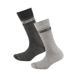 MUSTANG Socken 3 Paar Socken basic grau 39-42