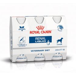 Royal Canin Renal Liquid Hundefutter 3 x 200 ml