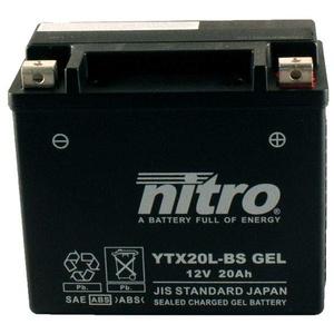 Batterie 12V 18AH YTX20L-BS Gel Nitro 51891 FXDB ESPFI Dyna Street Bob ABS 15-16