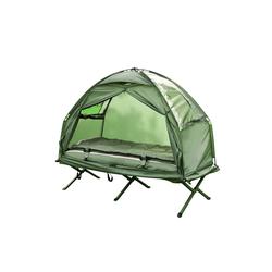 SoBuy Feldbett OGS32 4in1-Zelt mit Campingliege Schlafsack Luftmatratze und Zubehör 1 Person 87 cm x 194 cm x 165 cm