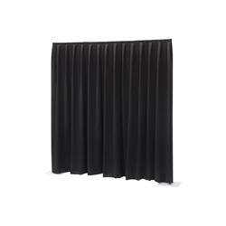 Wentex Pipes & Drapes Vorhang Molton, 3x1.2m, 300g/m², schw.