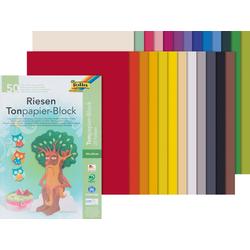 Folia Papierkarton Tonpapier-Block, 50 Blatt, 130 g/qm, sortiert