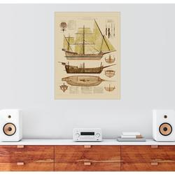 Posterlounge Wandbild, Antiker Schiffsplan 50 cm x 70 cm